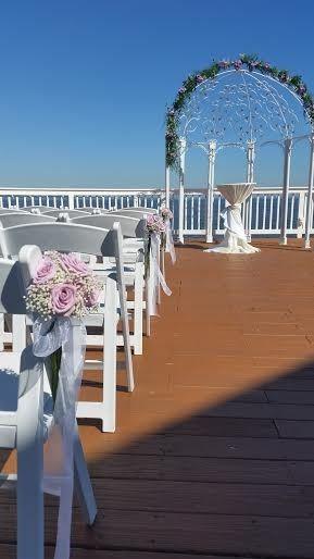 Tmx 1455376534823 Babys Breath Lavender Rose Chair Aisle Markers Baltimore, MD wedding florist