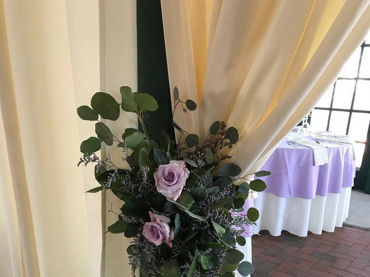 Tmx Corner Swag Draping Euch Lavender Rose 51 146395 Baltimore, MD wedding florist