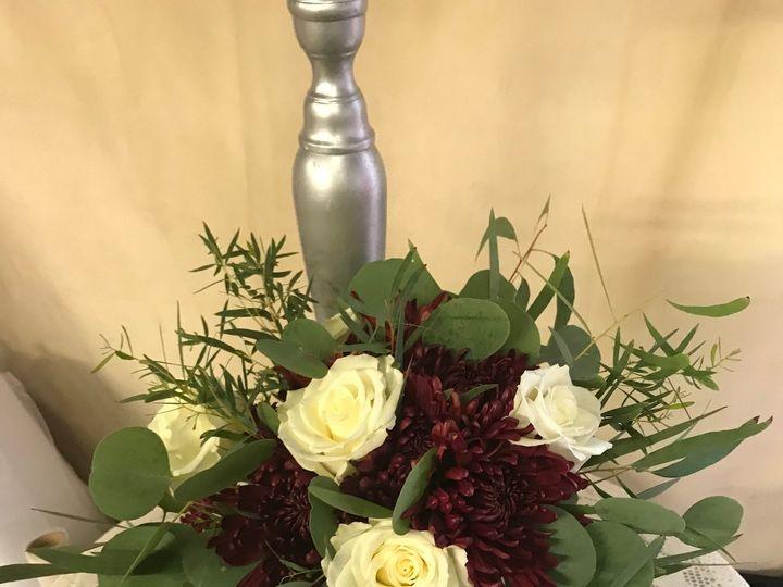 Tmx Fall Autum Burgundy Mum White Rose Burgundy Hanging Amaranthus Willow Silver Dollar Euch Bridesmaid Bouquet 51 146395 Baltimore, MD wedding florist