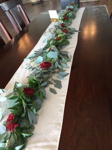 Tmx Garland With Burgundy Cushion Mums 51 146395 Baltimore, MD wedding florist