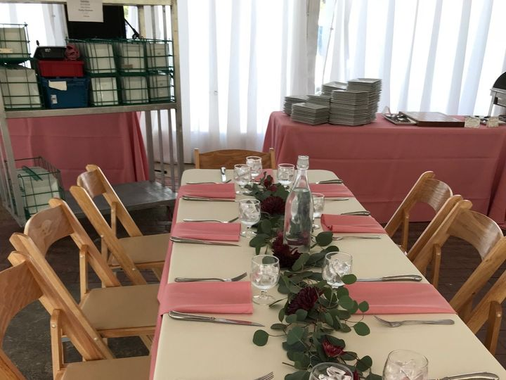 Tmx Irvine Table Garland Burgundy 51 146395 Baltimore, MD wedding florist