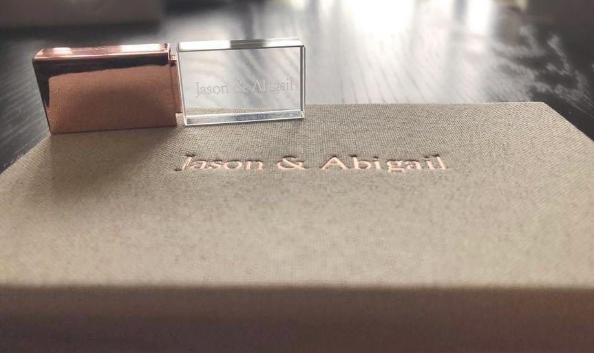 Custom linen + crystal usb