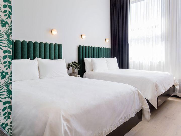 Double queen beds