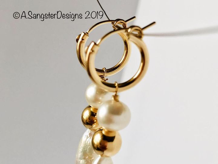 Tmx Baroque Pearls Gold Drop Earrings 3 51 929395 Studio City, CA wedding jewelry