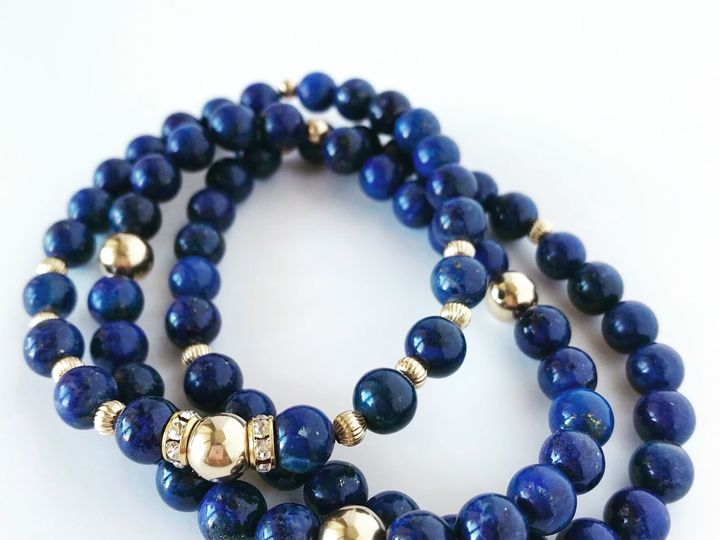 Tmx Set Of 3 Lapis Lazuli W Gold 51 929395 Studio City, CA wedding jewelry
