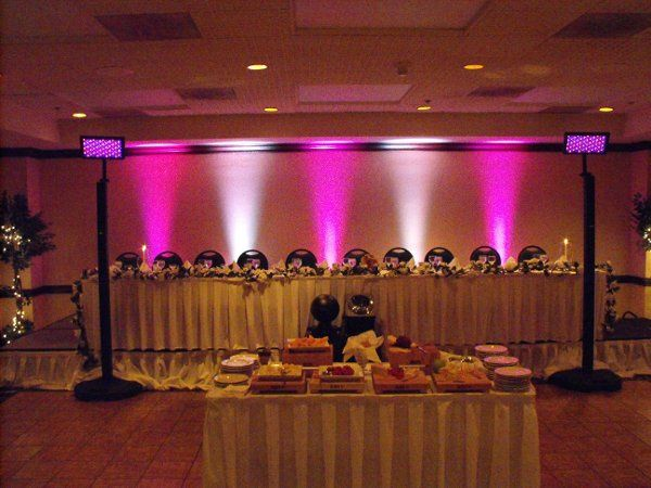 Head Table uplighting by Music By Mike