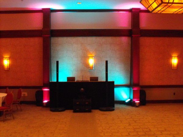 Reception with uplighting