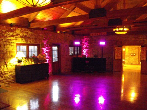 Reception with small uplighting package and small uplighting package