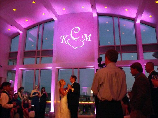 Uplighting and Monogram projection
