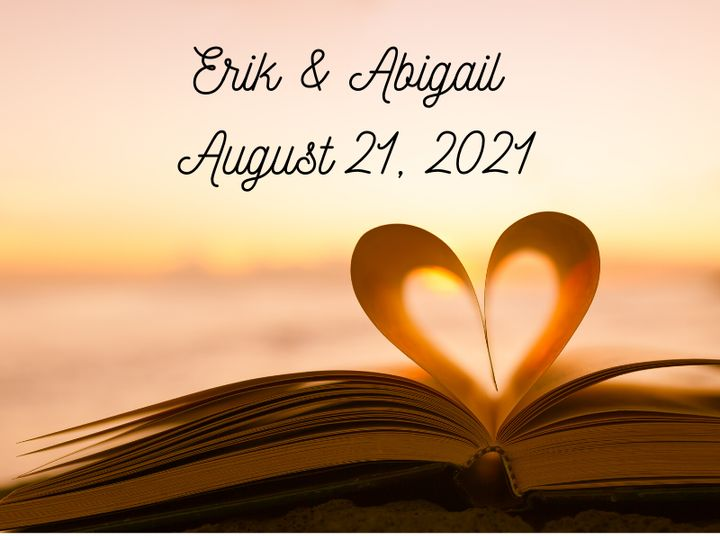 Tmx  Book With Heart Abigail Erik August 21 2021 51 1969395 159467059456840 Albert Lea, MN wedding favor