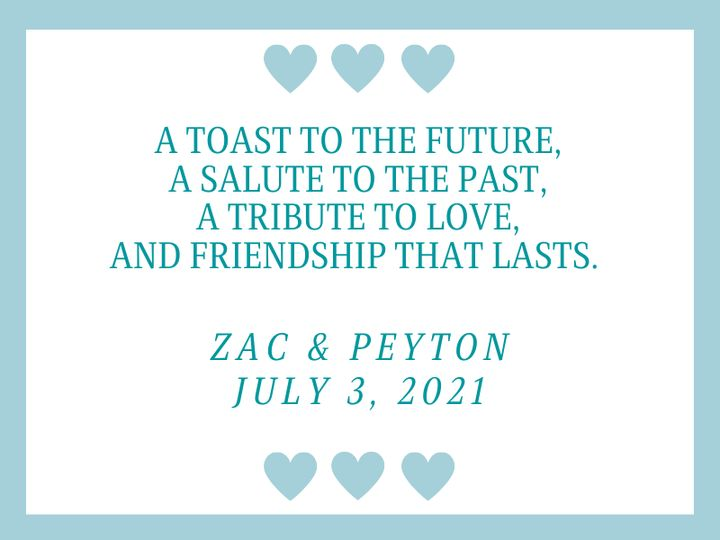 Tmx A Toast To The Future A Salute To The Past A Tribute To Love And Friendship That Lasts 1 51 1969395 159467058033551 Albert Lea, MN wedding favor