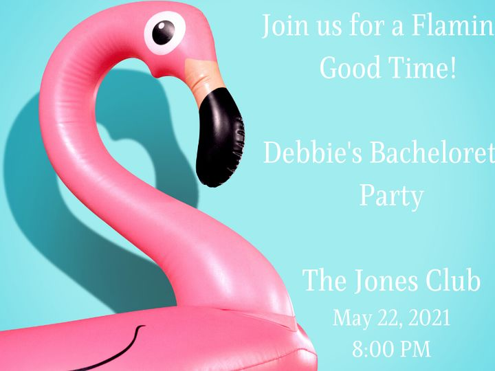 Tmx Join Us For A Flamingo Good Time Debbies Bachelorette Party The Jones Club May 22 2021 51 1969395 159467057835913 Albert Lea, MN wedding favor