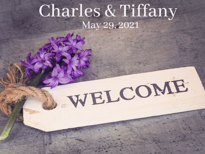 Tmx Welcome With Purple Flower Charles Tiffany 51 1969395 159467058411298 Albert Lea, MN wedding favor