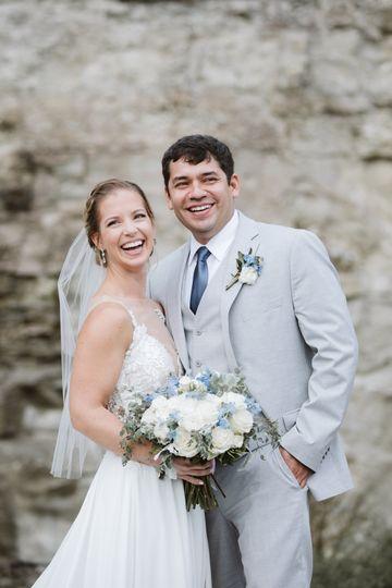 Smiling newlyweds - Peter Newsom Photography