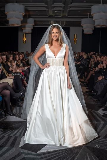 Wedding gown on runway