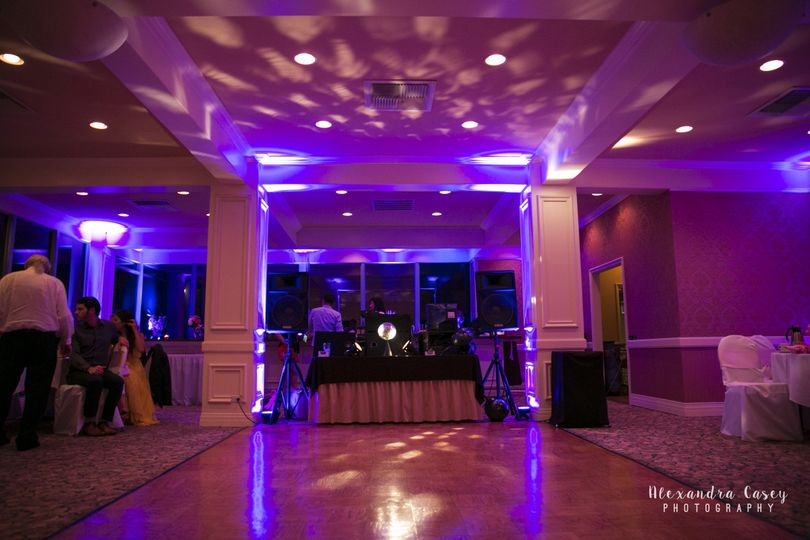 Uplighting for the dance floor