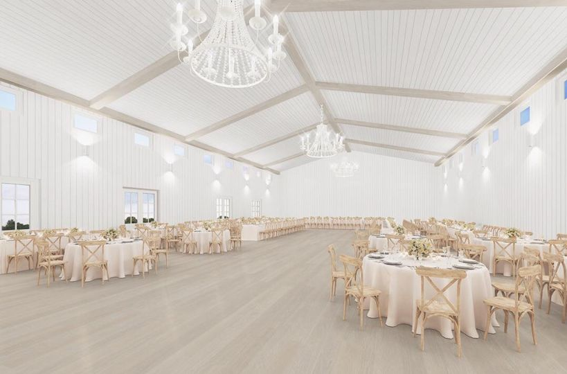 Recognized for its modern style and southern charm, The Grand Ivory Barn is 6,500 square feet and...