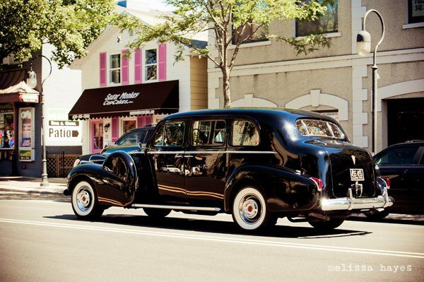 This is a 1940 Cadillac Limousine.  It is a touch of old Hollywood glamour.  This vehicle seats up...