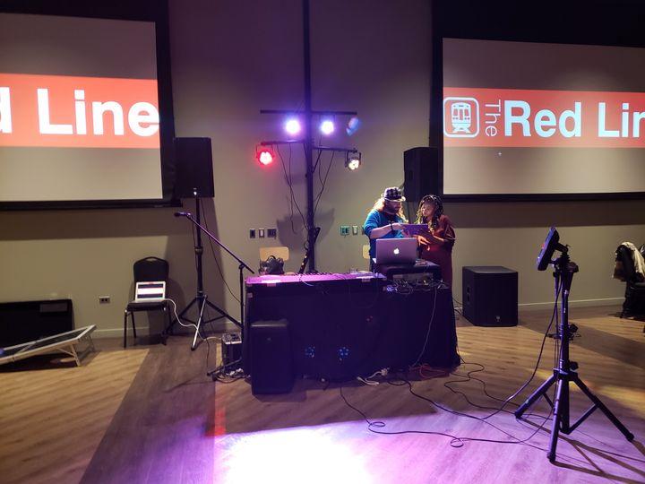 Redline wrap party with karaoke