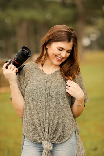Holding the camera