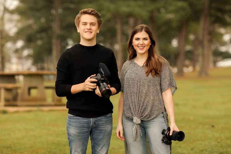 Two videographers