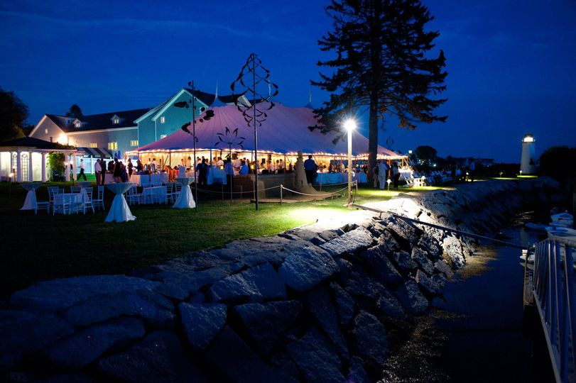 Tented Waterfront Reception