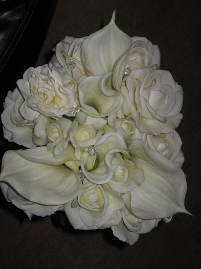 Bridal Bouquet made with Real Feel flowers for wedding