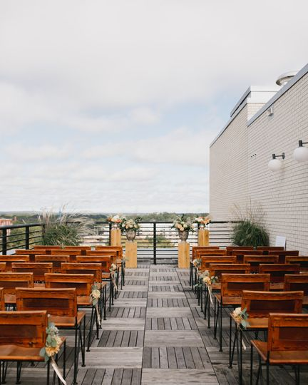 Durham hotel rooftop wedding