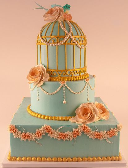 Beautiful cage inspired cake