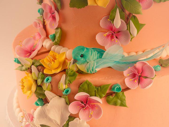 Tmx 1483990202431 Twinbluebirdcake3 Tulsa, Oklahoma wedding cake