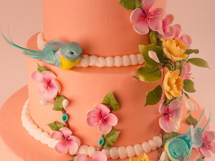 Tmx 1483990202484 Twinbluebirdcake2 Tulsa, Oklahoma wedding cake