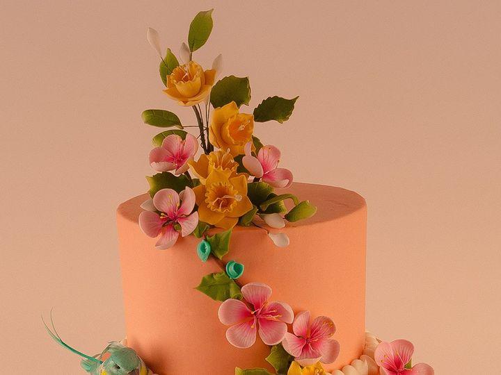 Tmx 1483990210905 Twinbluebirdcake Tulsa, Oklahoma wedding cake