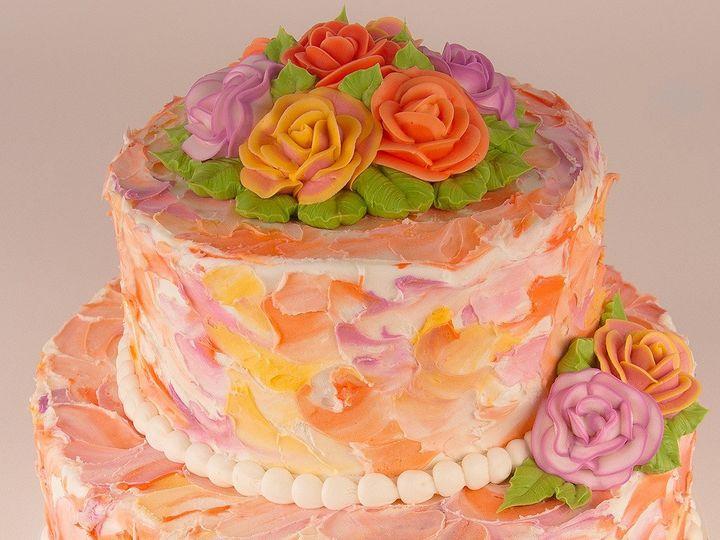Tmx 1483990310999 Floralcake Tulsa, Oklahoma wedding cake