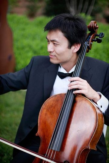 Cellist performing