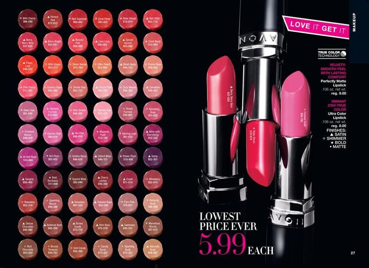 True Color Lipstick.  Choose your shade for the big day.
