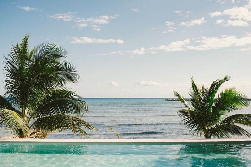 Seaside infinity pool