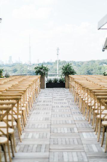 Open-air ceremony setup