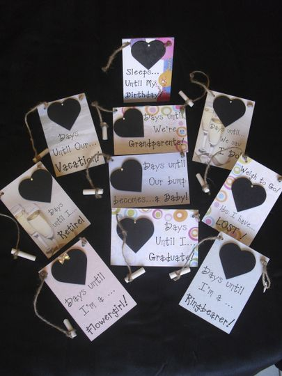 Wedding Gift Baskets Ontario : Countdown Chalkboards, Wedding Favors & Gifts, Ontario - Ontario