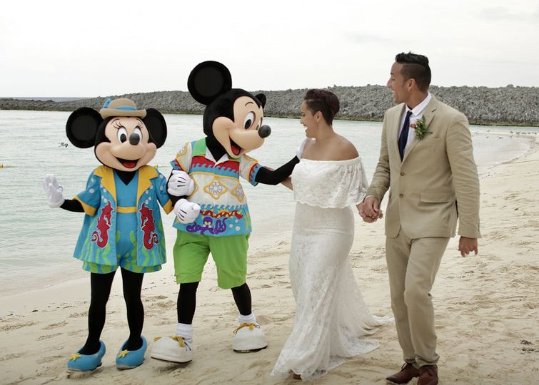 Special guests Mickey and Minnie