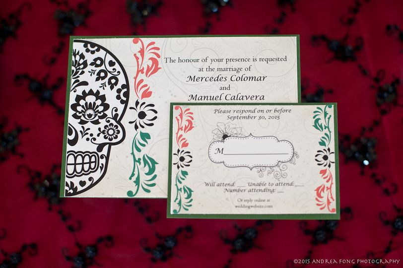 Day of the Dead Invitations, RSVP cards, and Place/Escort Cards