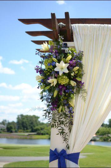 Wedding arch floral decor