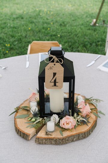 Reception Table Arrangement