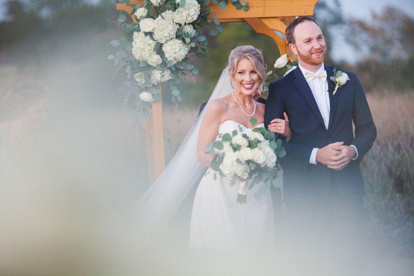 All White Vineyard Wedding
