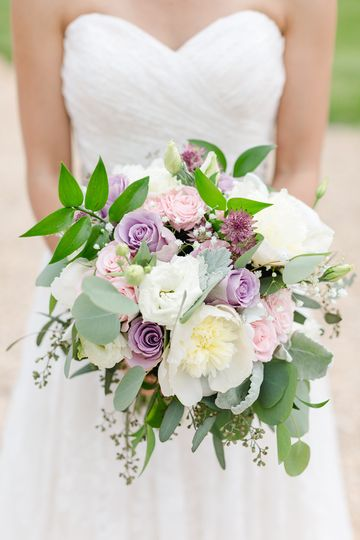 Bouquet of White, Lavender & B