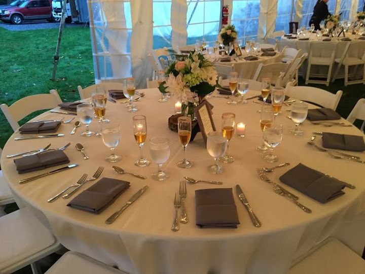 farm wedding table setting