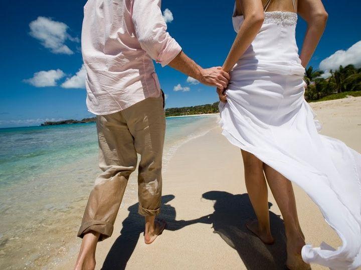 Tmx 1394665984708 Galleybayresortandspaweddingscouplewalkingonbeac Wellington wedding travel
