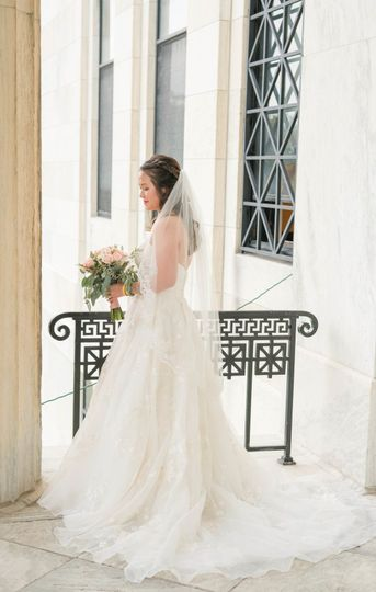 Beautiful bride at the buffalo history museum