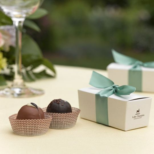 Chocolate Favor Box with Gourmet Truffles