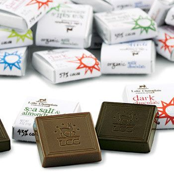 assorted organic chocolate squares