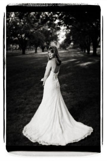 Bride at Pineola Farms.
